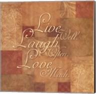 Live Well, Laugh Often, Love Much Fine-Art Print