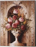Assorted Roses In Urn Fine-Art Print