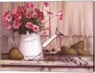 Pink Flowers And Pears Fine-Art Print
