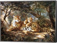 Leopard With Cub Fine-Art Print