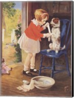 Playing Nurse - Sick Dog Fine-Art Print