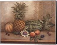 Pineapple And Passion Flower - Mini Fine-Art Print
