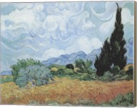 Field of Wheat with Cypresses, c.1889 Fine-Art Print