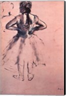 Study of Dancer from Behind, Hands at her Side. c.1873 Fine-Art Print