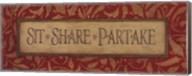 Sit Share Partake Fine-Art Print