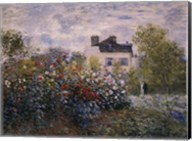 The Artist's Garden in Argenteuil (A Corner of the Garden with Dahlias), c.1873 Fine-Art Print