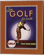 Golf For Health Fine-Art Print