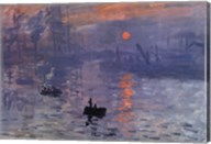 Impression, Sunrise, c.1872 (blue) Fine-Art Print