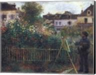 Monet Painting in his Garden at Argenteuil, c.1873 Fine-Art Print
