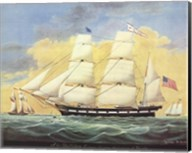 Ship St. Mary's Entering Harbor At Mobile Fine-Art Print