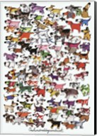 One Hundred Dogs and a Cat Fine-Art Print