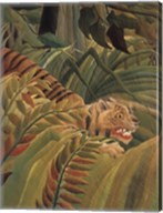 Detail from 'Tiger in a Tropical Storm (Surprised!), 1891' Fine-Art Print
