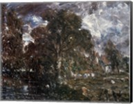 John Constable - On the River Stour Fine-Art Print