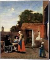Dutch Courtyard Fine-Art Print