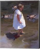 Lakeside Stroll Fine-Art Print