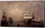 Merchantmen Off Boston Harbor Fine-Art Print