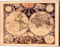 New World Map, 1676 Fine-Art Print