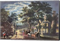 Currier and Ives - Wayside Inn Fine-Art Print