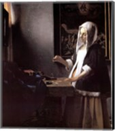 A Woman Holding a Balance Fine-Art Print