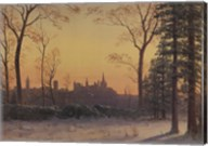 View of the Parliament Buildings from the Grounds of Rideau Hall Fine-Art Print