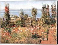 Hollyhocks, Isle of Shoals Fine-Art Print