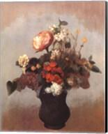 Pivoine Geranium Et Lilas Fine-Art Print