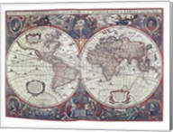 New Earth Water Map of the Entire World Fine-Art Print