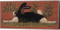 Red Folk Bunny Fine-Art Print