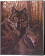 Wolves Pair Fine-Art Print