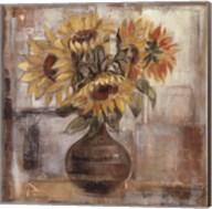 Sunflowers In Bronze Vase Fine-Art Print