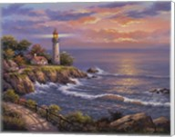 Sunset At Lighthouse Point Fine-Art Print