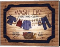 Wash Day - clothes line Fine-Art Print