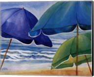 Seaside Umbrellas Fine-Art Print