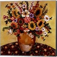Golden Vase Floral Fine-Art Print