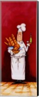 Chef With Bread And Oil Fine-Art Print