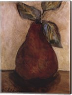 Red Pear On Beige Fine-Art Print