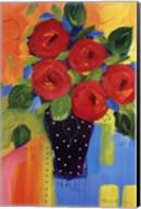 Spring Blooms In Blue Vase II Fine-Art Print