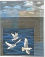 Three White Gulls I Fine-Art Print
