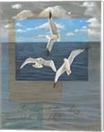 Three White Gulls II Fine-Art Print
