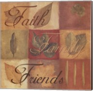 Faith Family Friends - square Fine-Art Print