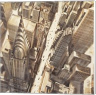 Aerial View of Chrysler Building Fine-Art Print