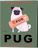 Pug Orange Juice Fine-Art Print