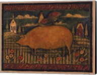 Farmhouse Pig Fine-Art Print