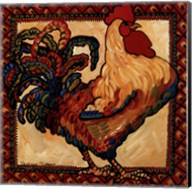 Provincial Rooster Red Fine-Art Print