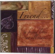 Words to Live By...Friend Fine-Art Print