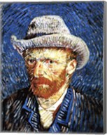 Self-Portrait with Grey Felt Hat, Paris, c.1887 Fine-Art Print