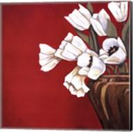 Tulips on Red Fine-Art Print