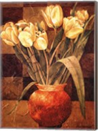 Checkered Tulips I Fine-Art Print