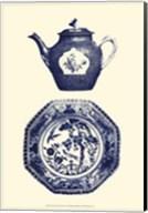 Manor Porcelain In Blue I Fine-Art Print