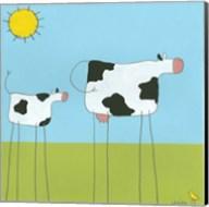Stick-Leg Cow I Fine-Art Print